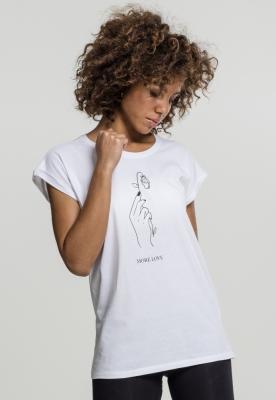 Tricou More Love pentru Femei alb Mister Tee