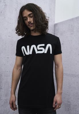 Tricou NASA Worm negru Mister Tee