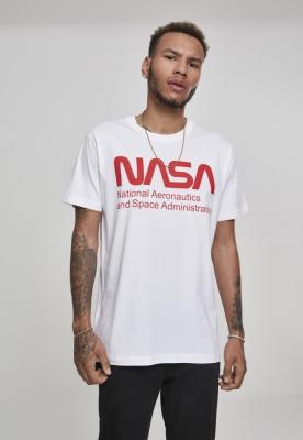 Tricou NASA Wormlogo alb Mister Tee