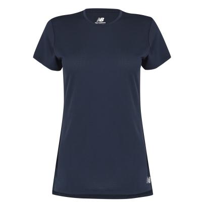 Tricou New Balance alergare pentru Femei bleumarin