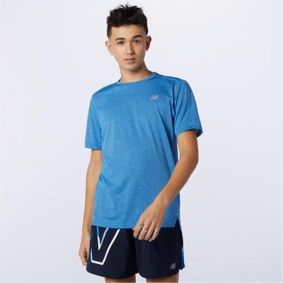 Tricou New Balance Balance Impact Run albastru