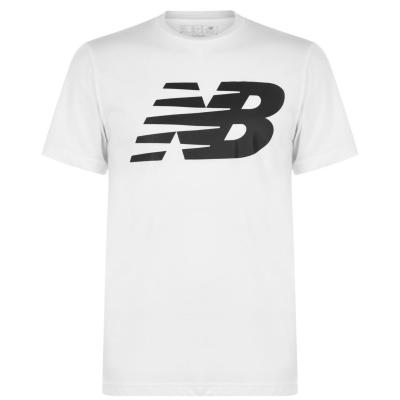 Tricou New Balance Logo imprimeu Graphic QT pentru Barbati alb