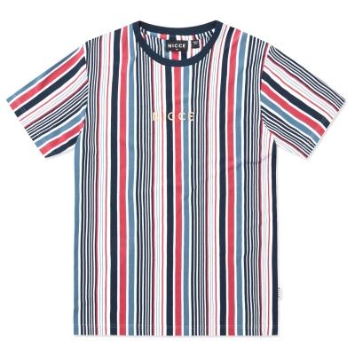 Tricou Nicce Club pentru Barbati alb bleumarin roz inchis