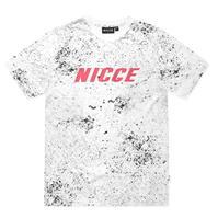 Tricou Nicce Speckle pentru Barbati alb negru