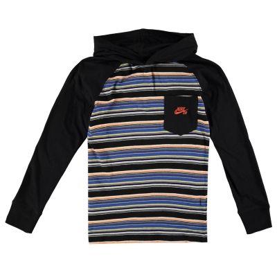 Tricou Nike cu gluga Raglan pentru baietei negru