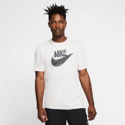 Tricou Nike NSW Print pentru Barbati alb gri