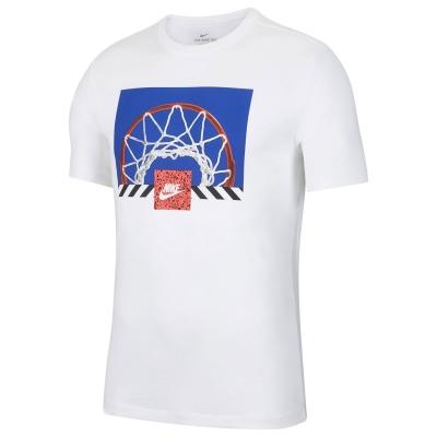 Tricou Nike NSW Print pentru Barbati alb hoop