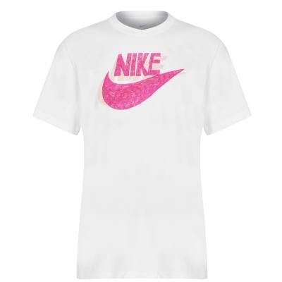 Tricou Nike NSW Print pentru Barbati alb portocaliu