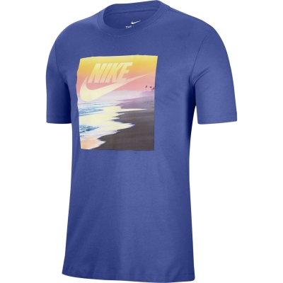 Tricou Nike NSW Print pentru Barbati bleumarin multicolor