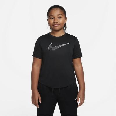 Tricou Nike One Dri Fit pentru fetite negru alb