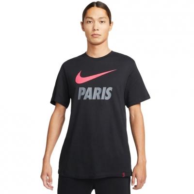 Tricou Nike PSG Swoosh Club negru DB4814 011 pentru Barbati