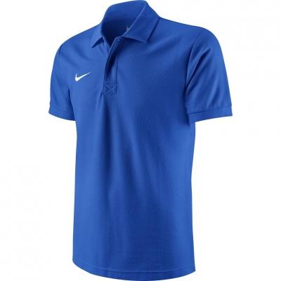 Tricou Nike Team Core Polo albastru jersey 454800 463 barbati