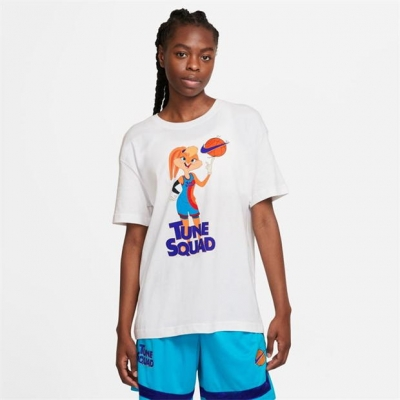 Tricou Nike x Space Jam 2 baschet pentru femei alb