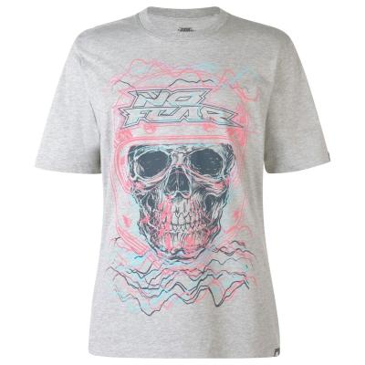 Tricou No Fear Core Graph pentru Barbati gri skulls