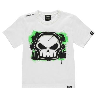 Tricou No Fear Core imprimeu Graphic pentru baietei alb