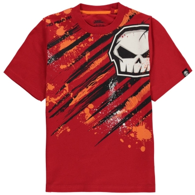 Tricou No Fear Core imprimeu Graphic pentru baietei rosu