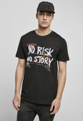 Tricou No Risk No Story negru Mister Tee