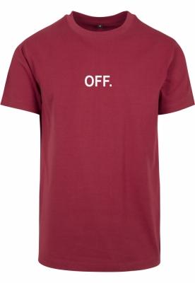 Tricou OFF EMB rosu-burgundy Mister Tee