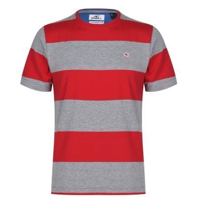 Tricou ONeill Block cu dungi pentru Barbati haute rosu