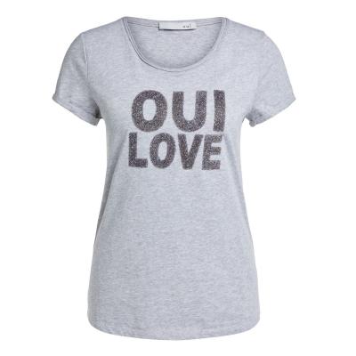 Tricou Oui Love gri