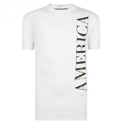 Tricou PERRY ELLIS clasic America alb