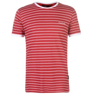 Tricou Pierre Cardin cu dungi Ringer pentru Barbati rosu