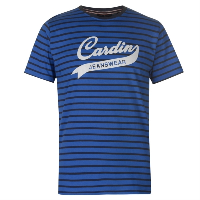 Tricou Blugi Pierre Cardin cu dungi Wear pentru Barbati albastru bleumarin