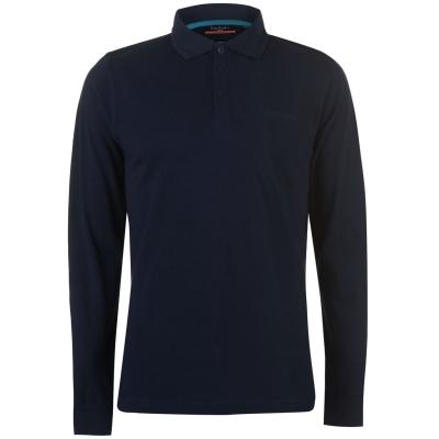 Tricou Polo cu Maneca Lunga Pierre Cardin Plain pentru Barbati bleumarin