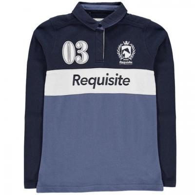 Tricou Polo cu Maneca Lunga Requisite pentru fete bleumarin