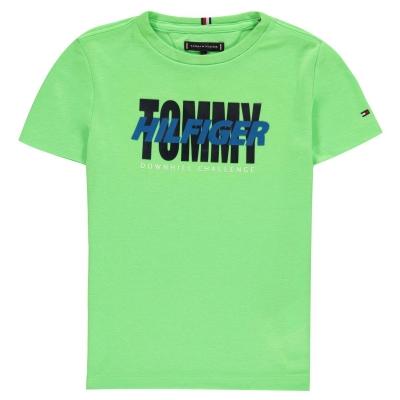 Tricouri Tommy Hilfiger Alpine pentru baietei verde gecko