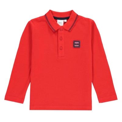 Tricou Polo cu Maneca Lunga Boss Badge rosu 97e