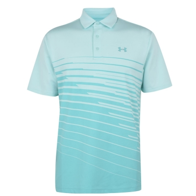 Tricou polo Play Off Under Armour Armour albastru aqua float