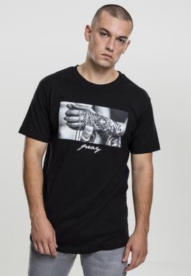 Tricou Pray 2.0 negru Mister Tee