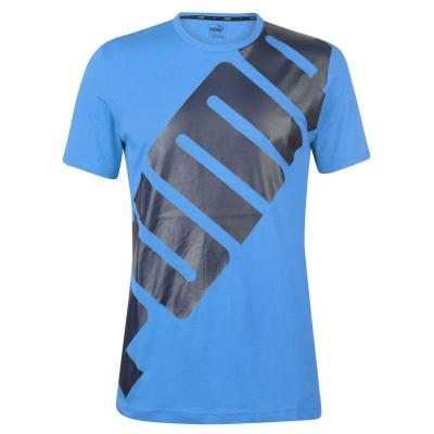 Tricou cu imprimeu Puma Big pentru Barbati strong albastru