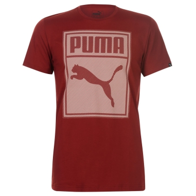 Tricou Puma Box QT pentru Barbati rosu dahlia