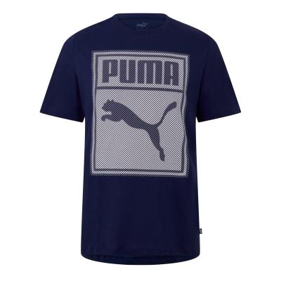 Tricou Puma Box QT pentru Barbati bleumarin alb