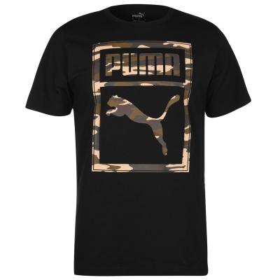 Tricou Puma Box QT pentru Barbati negru camuflaj