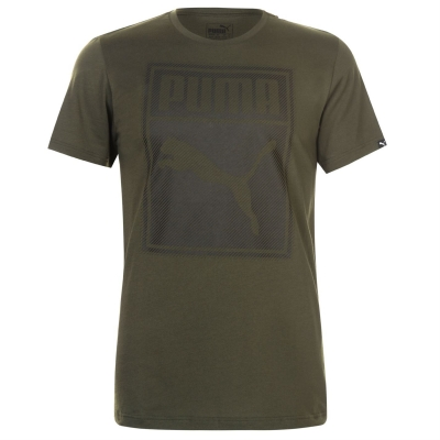 Tricou Puma Box QT pentru Barbati verde bleumarin