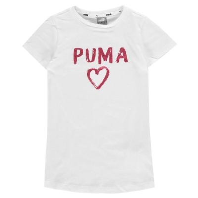 Tricou Puma Heart QT pentru fetite alb
