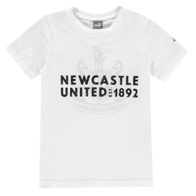 Tricou Puma Newcastle United imprimeu Graphic pentru baietei alb