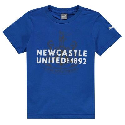 Tricou Puma Newcastle United imprimeu Graphic pentru baietei albastru roial