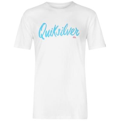 Tricou Quiksilver Script pentru Barbati alb