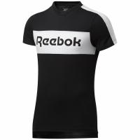 Tricou Reebok TE Linear Logo SS imprimeu Graphic negru FU3123 pentru Barbati