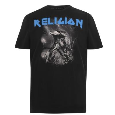 Tricou Religion Eagle negru albastru