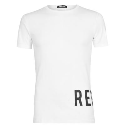 Tricou Replay Rep alb