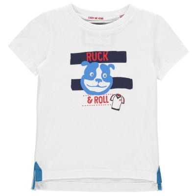 Tricou RFU Ruck and Roll baietei alb