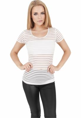 Tricou semi transparent femei alb-murdar Urban Classics