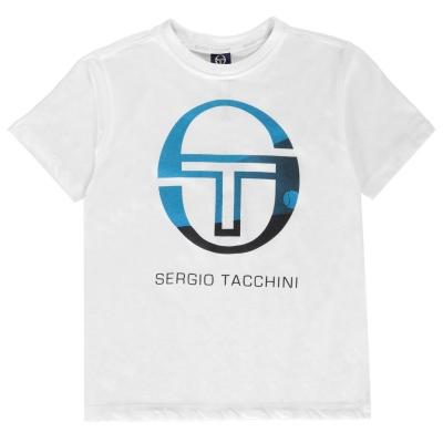 Tricou Sergio Tacchini Elbow pentru baietei alb albastru