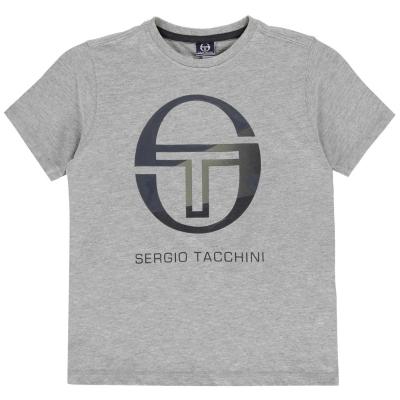 Tricou Sergio Tacchini Elbow pentru baietei gri albastru