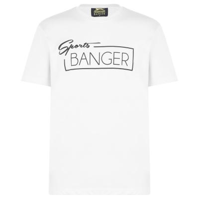Tricou Slazenger Banger pentru adulti alb sprtbng